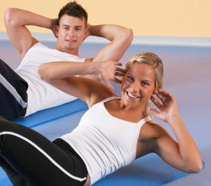 Try crunches for an abdominal workout